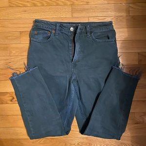 Abercrombie straight leg mode rise jean size 27